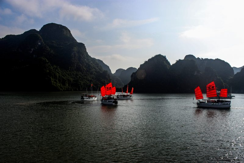 The Red Sails of Ha Long Bay