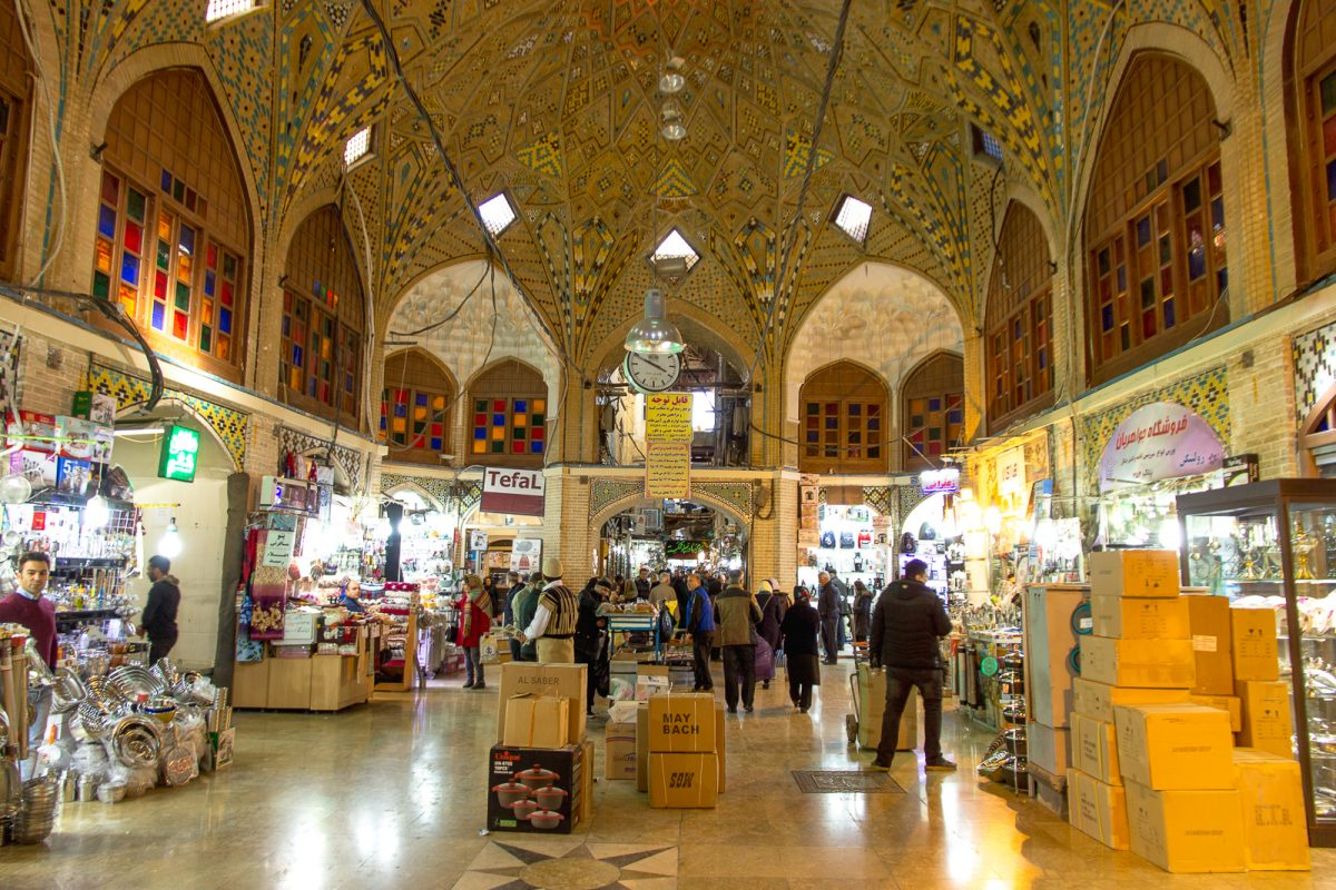 things to do in tehran - tehran bazar