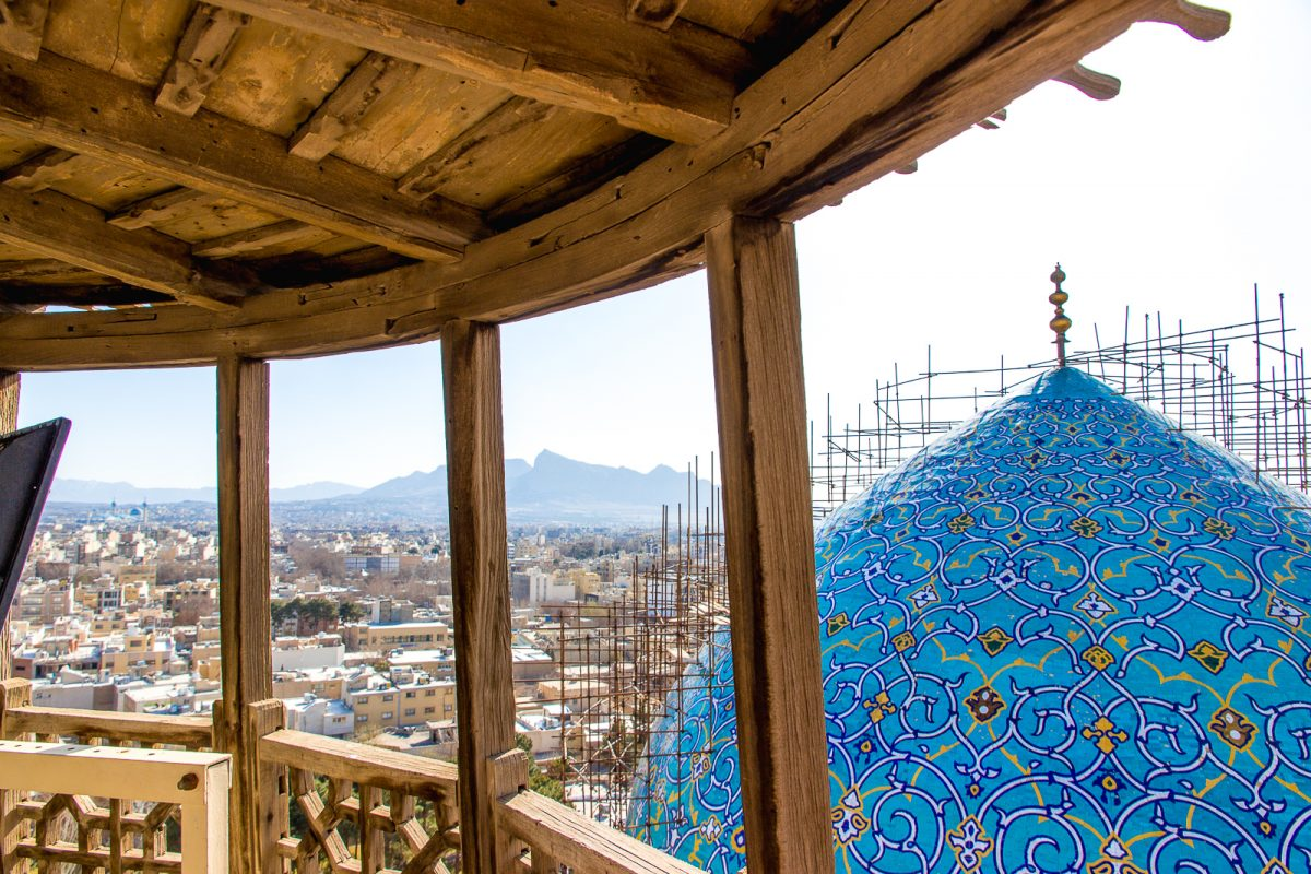 shah mosque esfahan isfahan view from minaret
