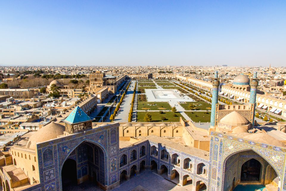 shah mosque isfahan view from minaret