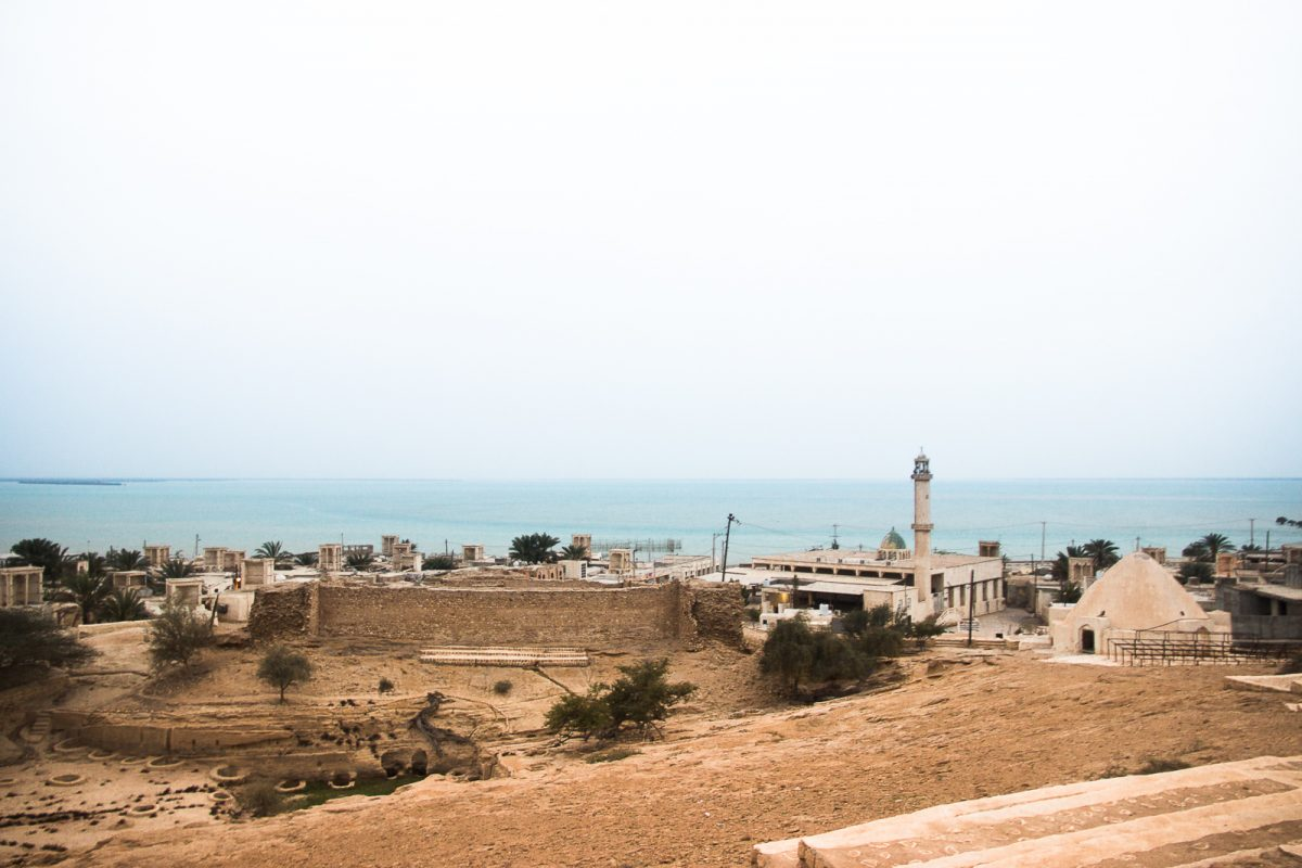 Bandar e Laft on Qeshm Island View from Above on the Wells and Town