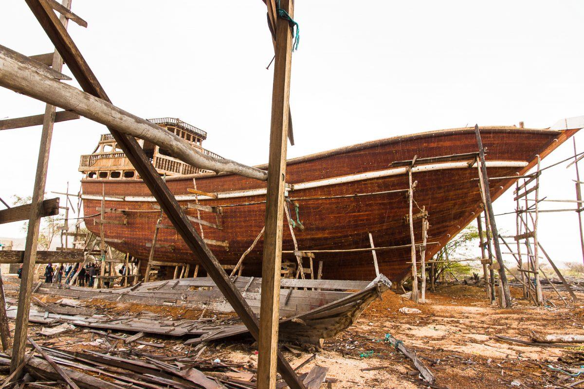 Boat shipyard on Qeshm Island