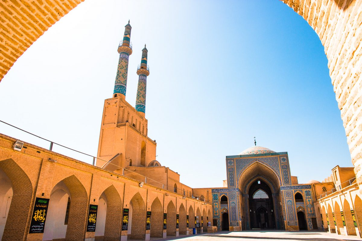 Iran itinerary: 1 - 3 weeks in Iran. Jameh Mosque Yazd.