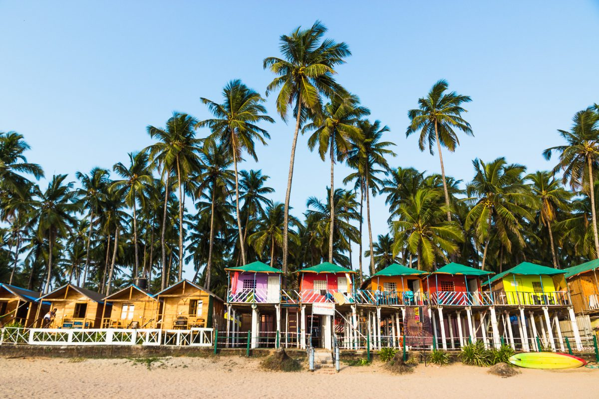 Beach Shacks at Palolem Beach - The Best Beach in Goa for Backpackers