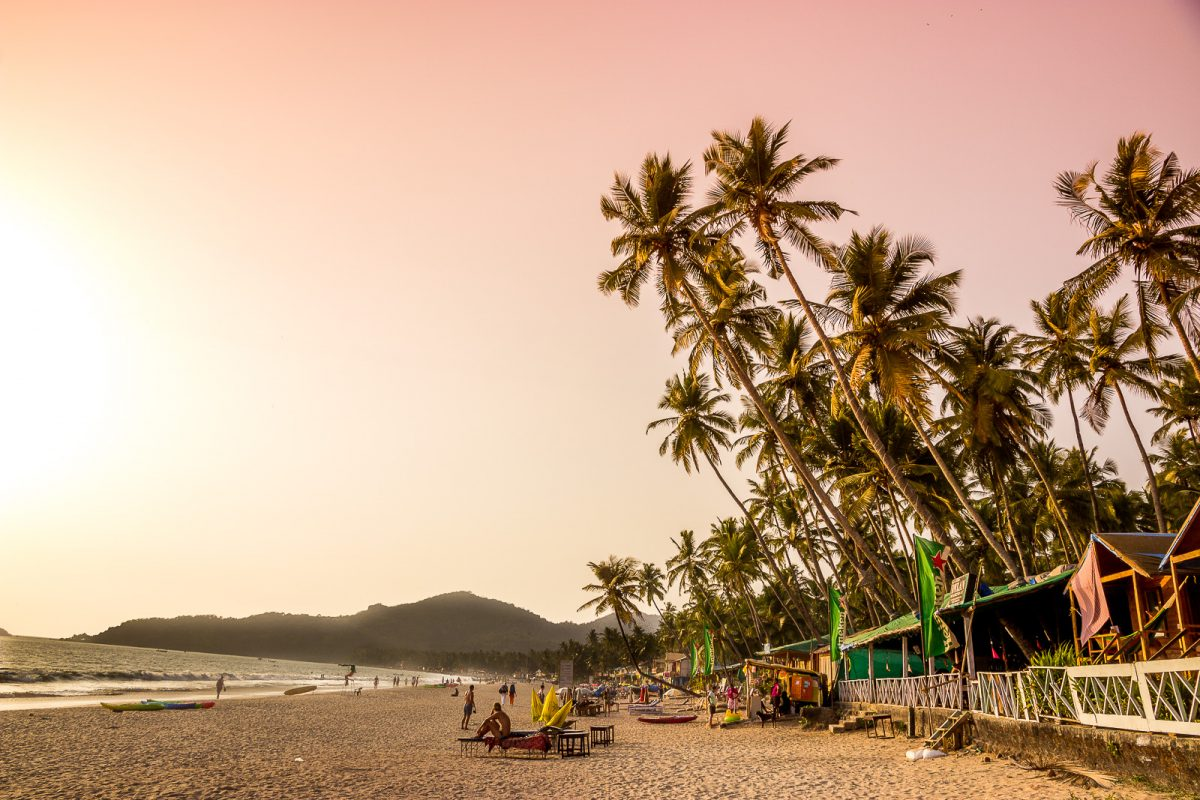Palolem Beach in South Goa - The Best Beach in Goa for Backpackers