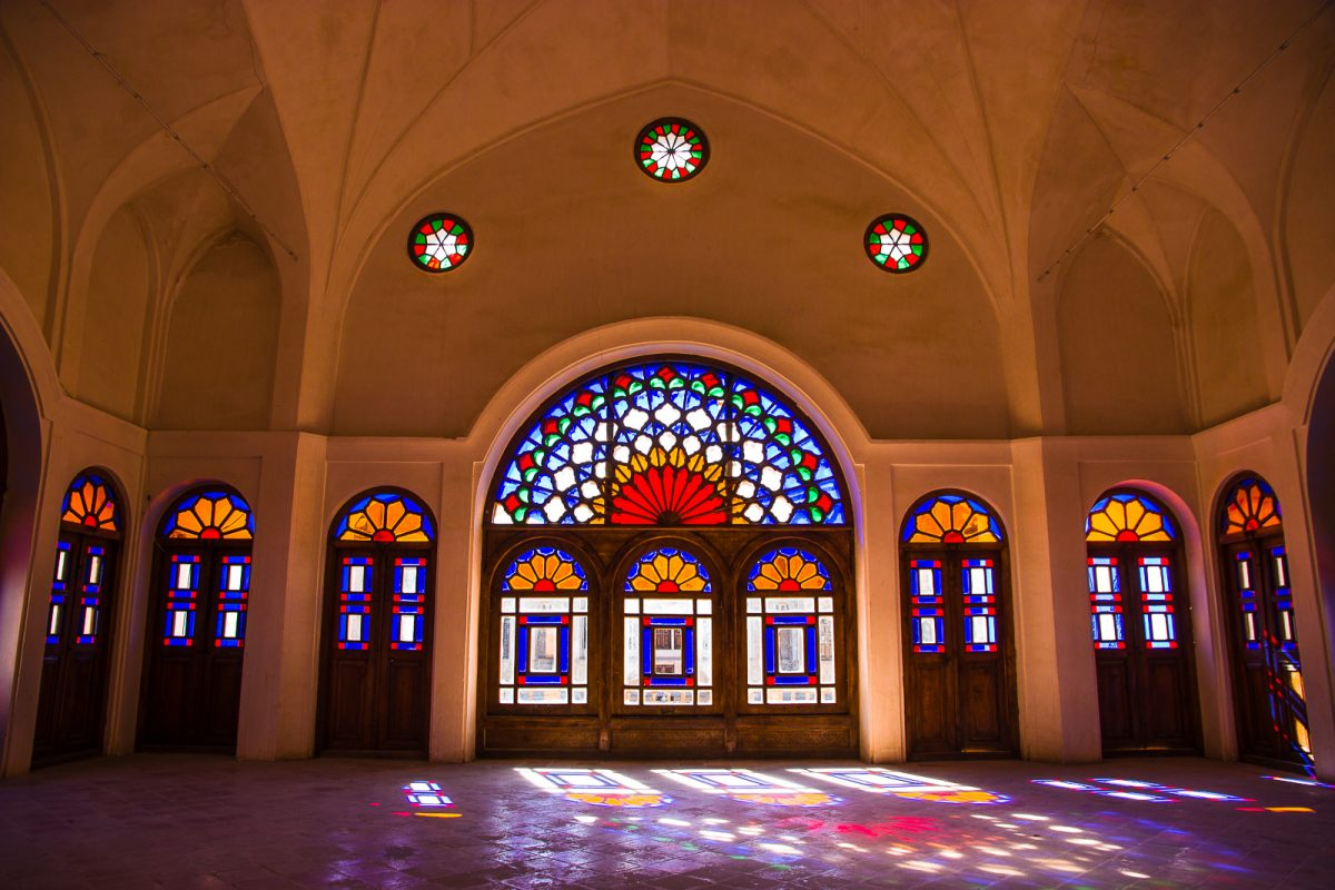The stained glass windows of the Tabatabaei House in Kashan - Things to do in Kashan