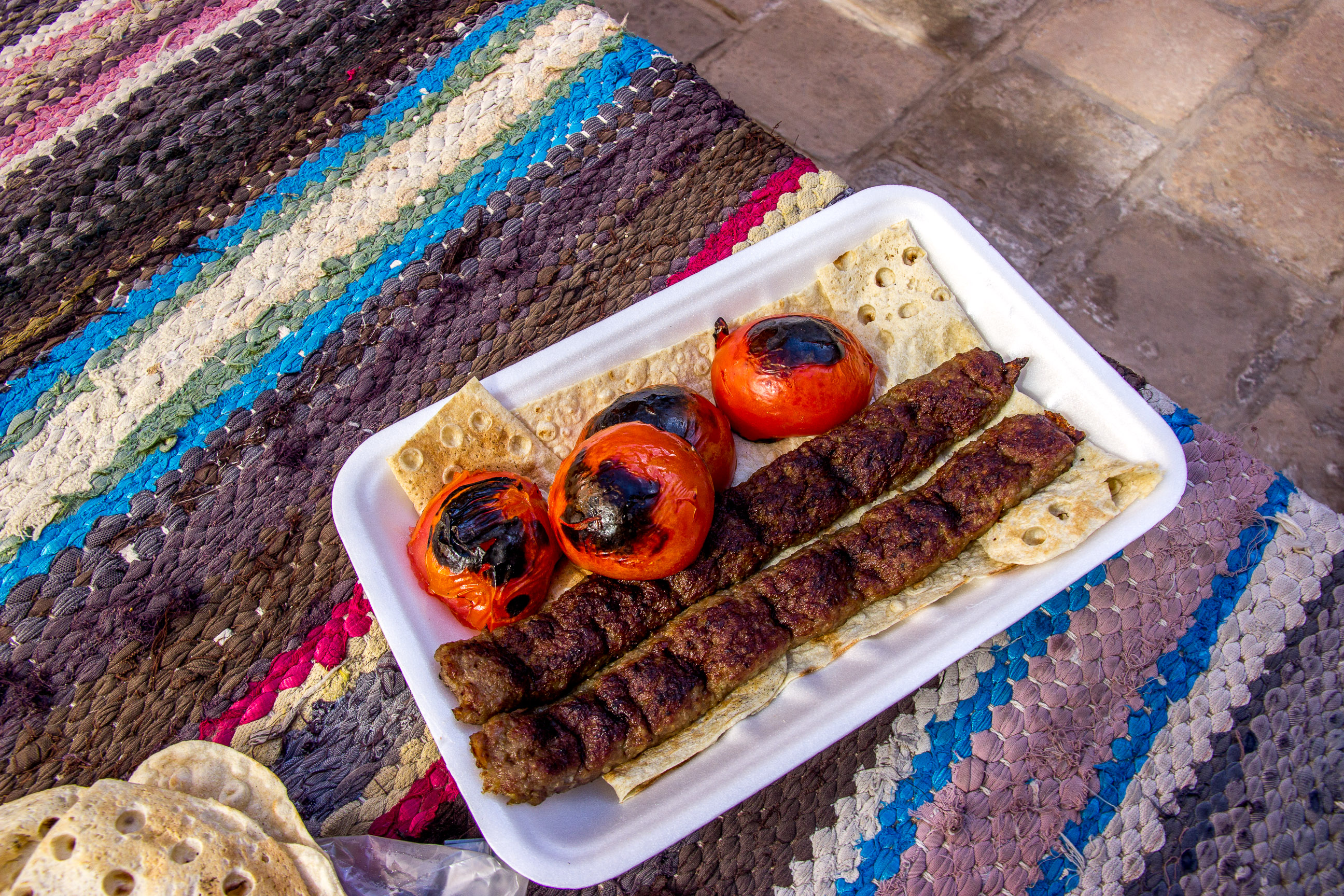 iran travel budget - food kebab