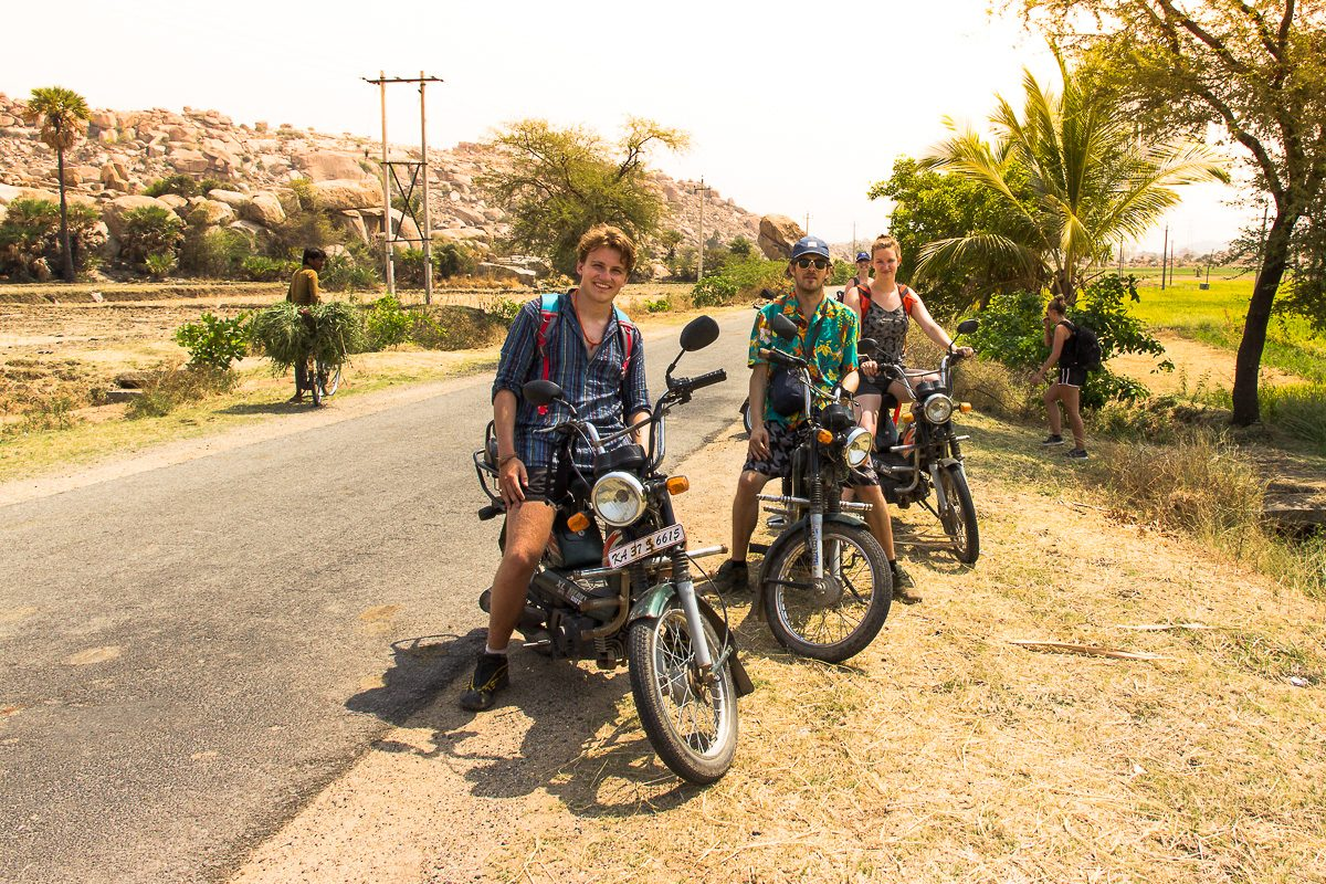 Things to do in Hampi: Rent a moped and explore Hampi's surroundings