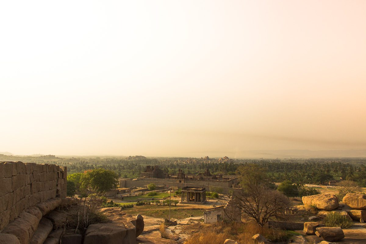 View over the temples in Hampi