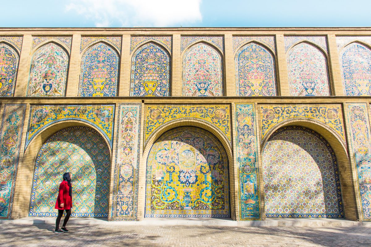 The colorful Golestan Palace in Tehran