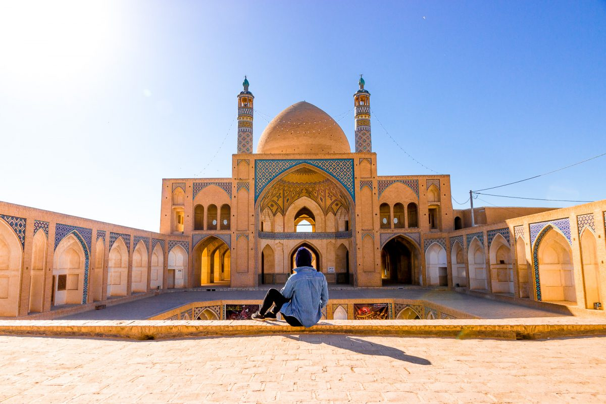 iran bucket list: visit the agha bozorg mosque in kashan