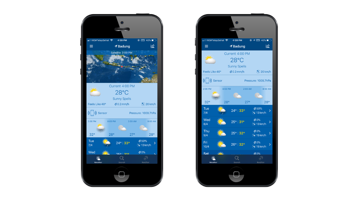 weatherpro app screenshots