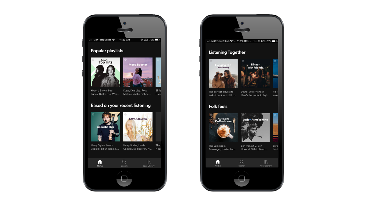 spotify app screenshots
