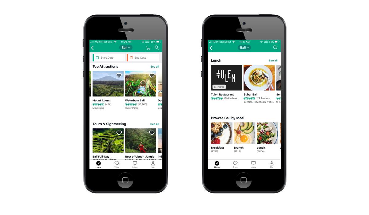 tripadvisor app screenshots
