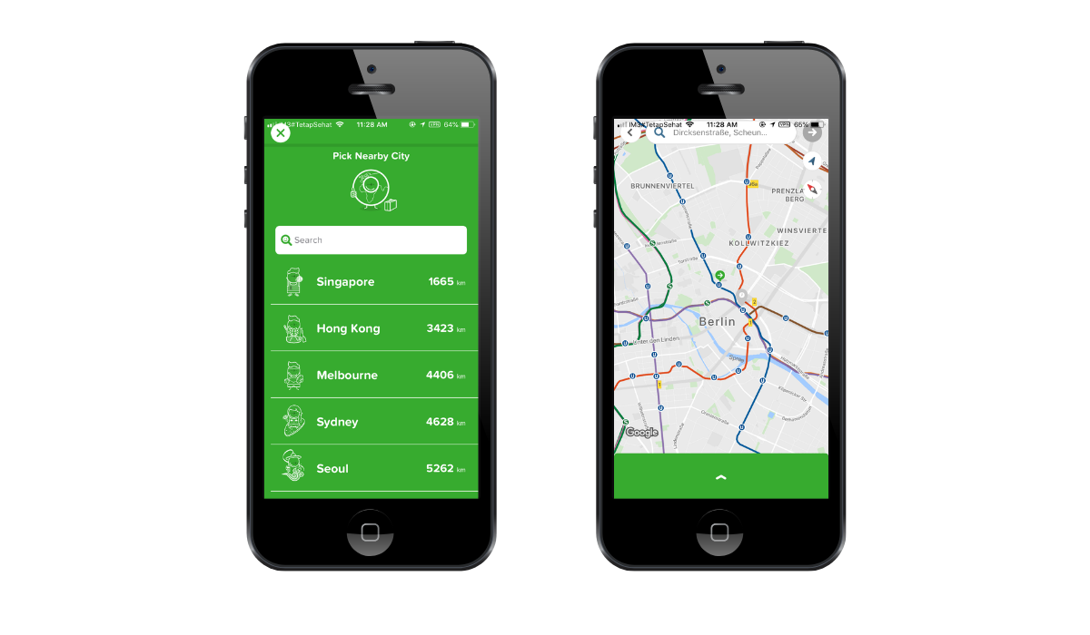citymapper app screenshots
