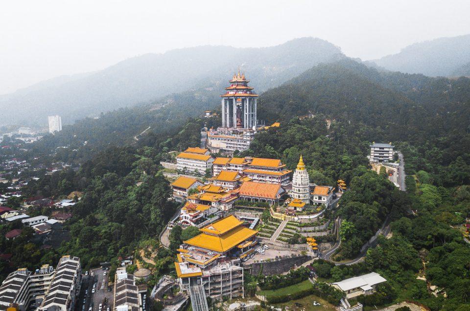 drone kek lok si temple