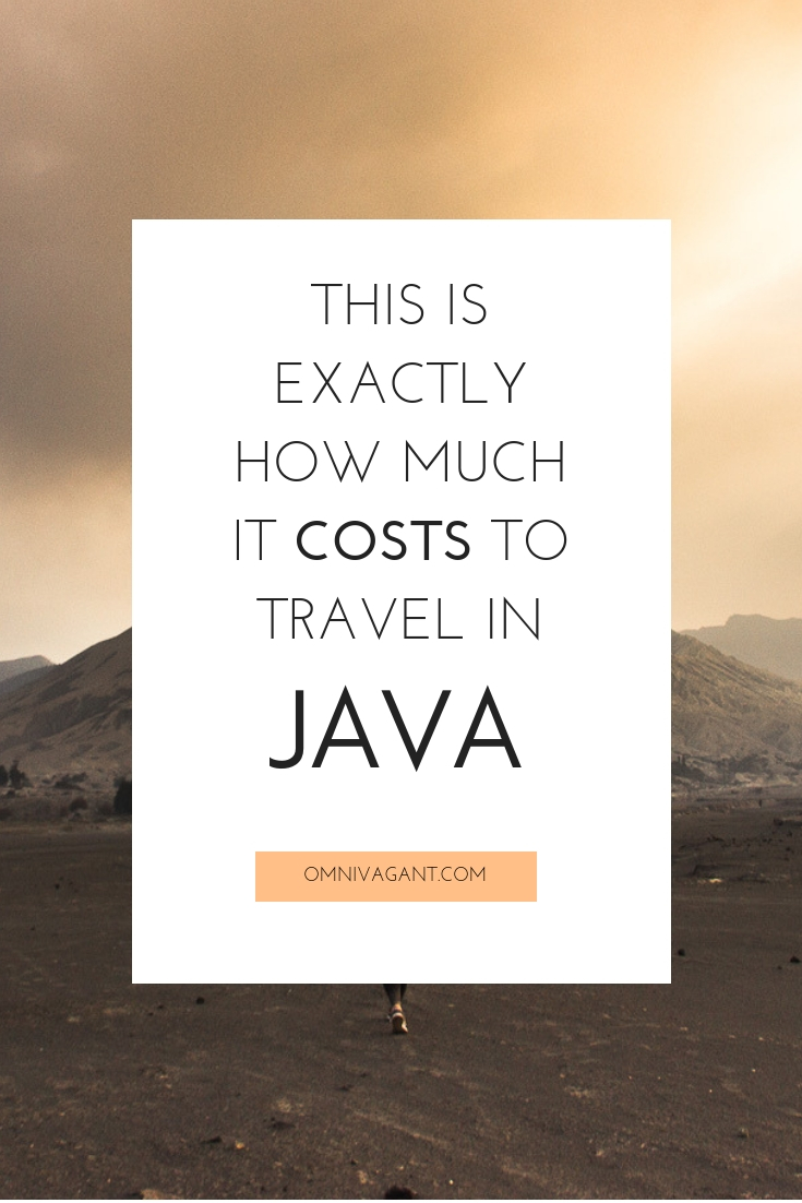 how much it costs to travel in java indonesia