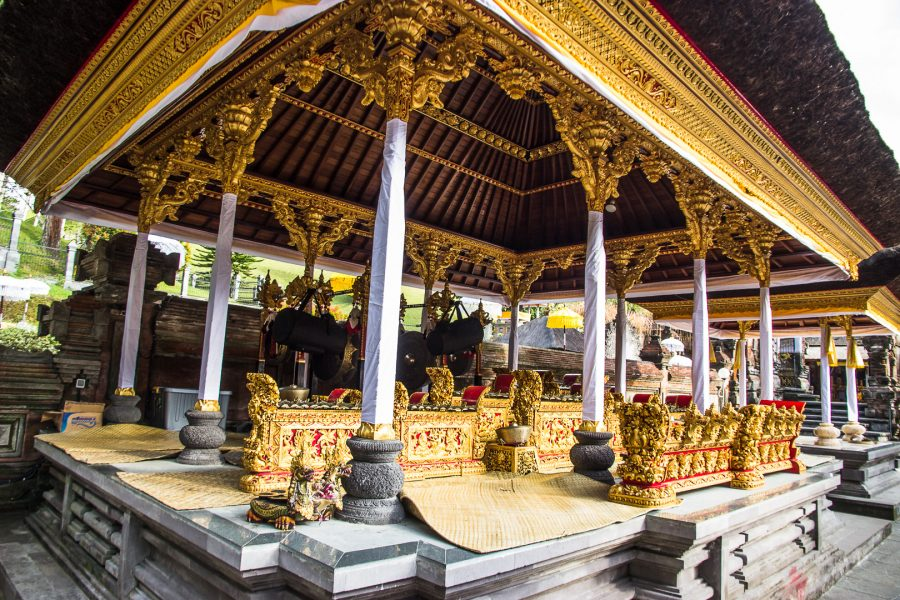 The buildings of the Tirta Empul Temple in Bali
