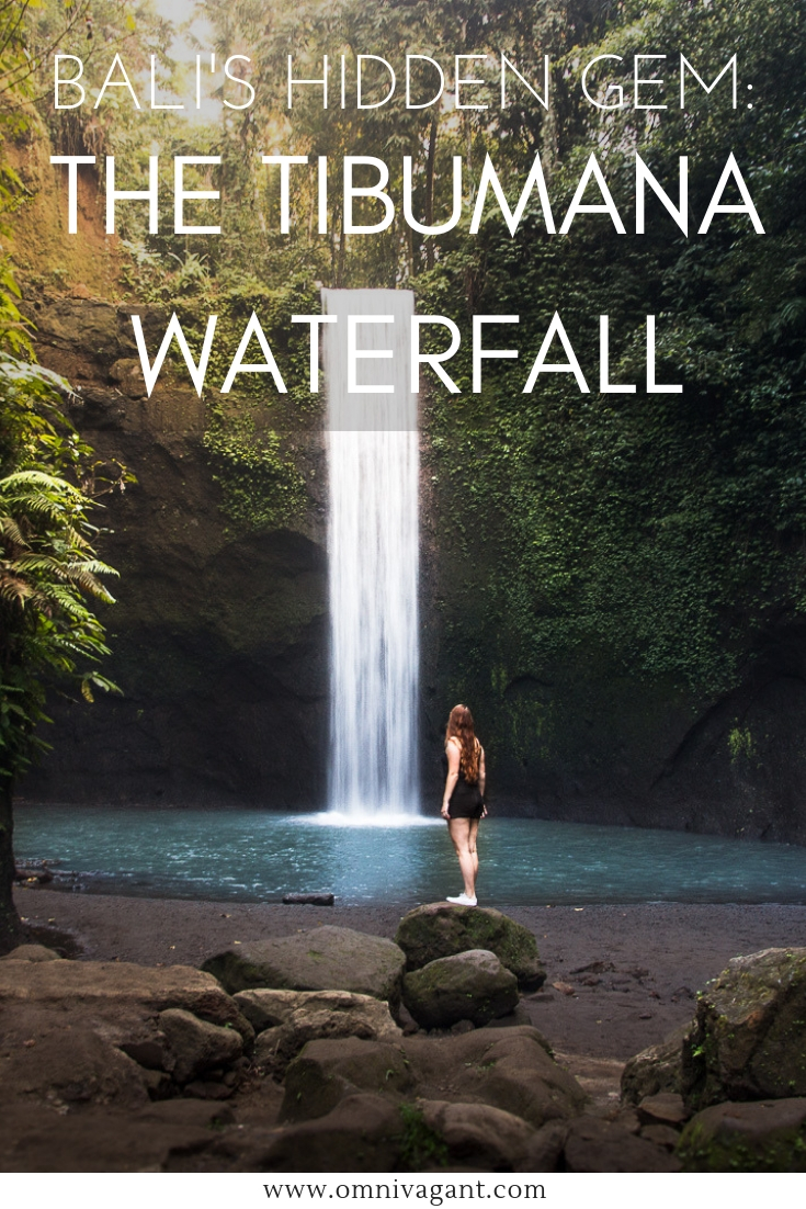 bali's hidden gem tibumana waterfall in ubud bali at sunrise