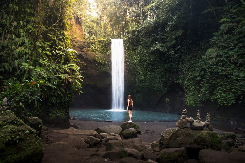 tibumana waterfall near ubud bali