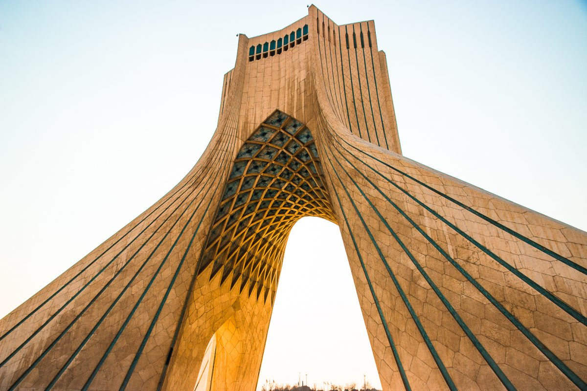 Iran itinerary: 1 - 3 weeks in Iran. Azadi Tower in Tehran.