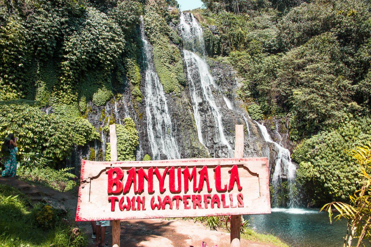 banyumala twin waterfalls bali entrance
