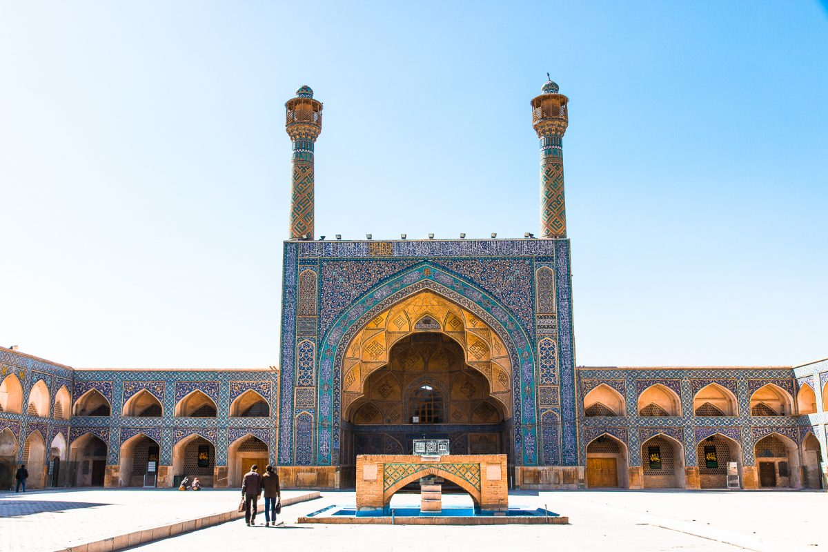 Iran itinerary: 1 - 3 weeks in Iran. Stunning Jameh Mosque in Isfahan.