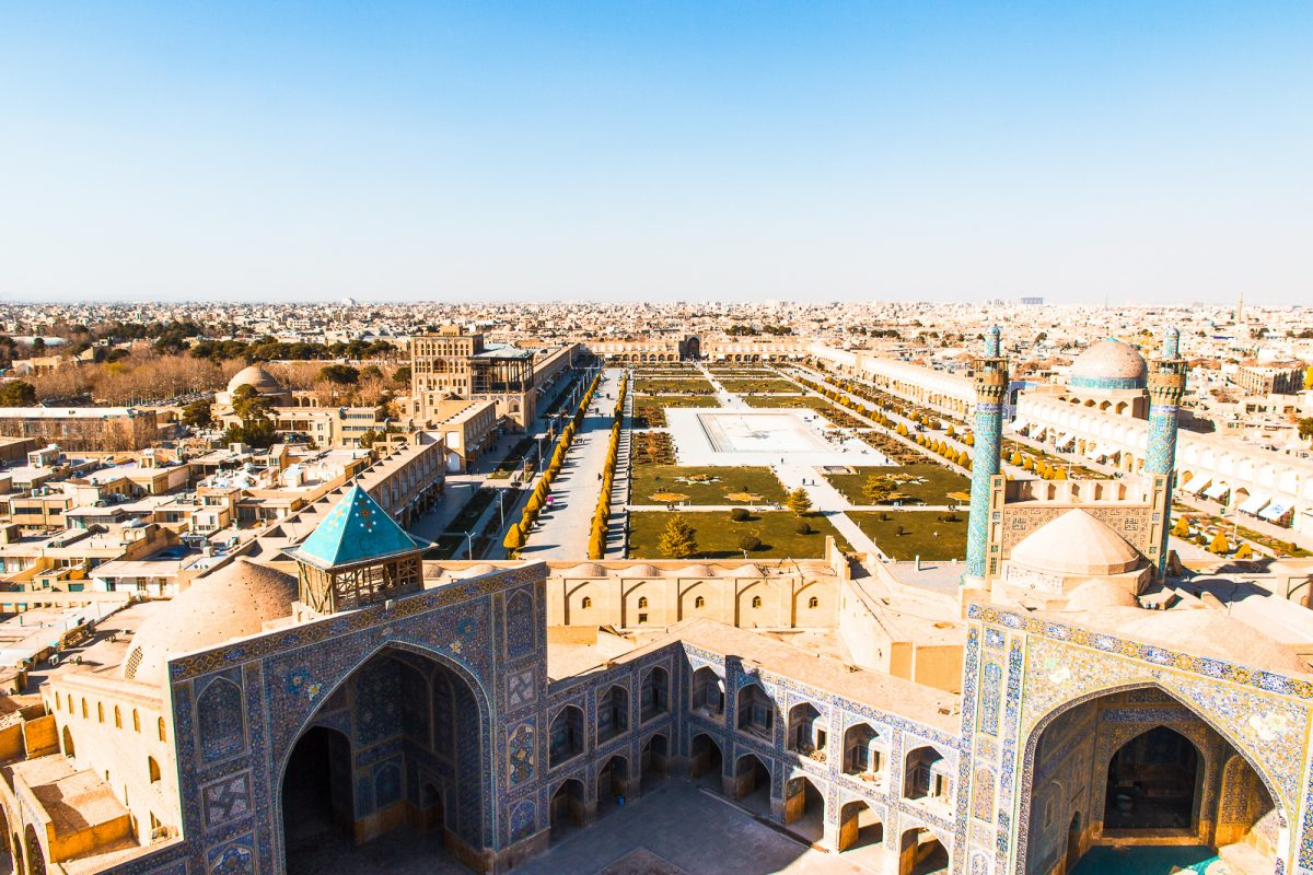 View over the square from the Shah Mosque - Iran Travel Guide