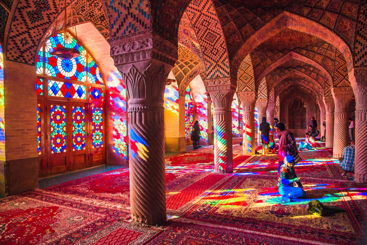 Nasir Al-Mulk Mosque - the Pink Mosque in Shiraz, Iran