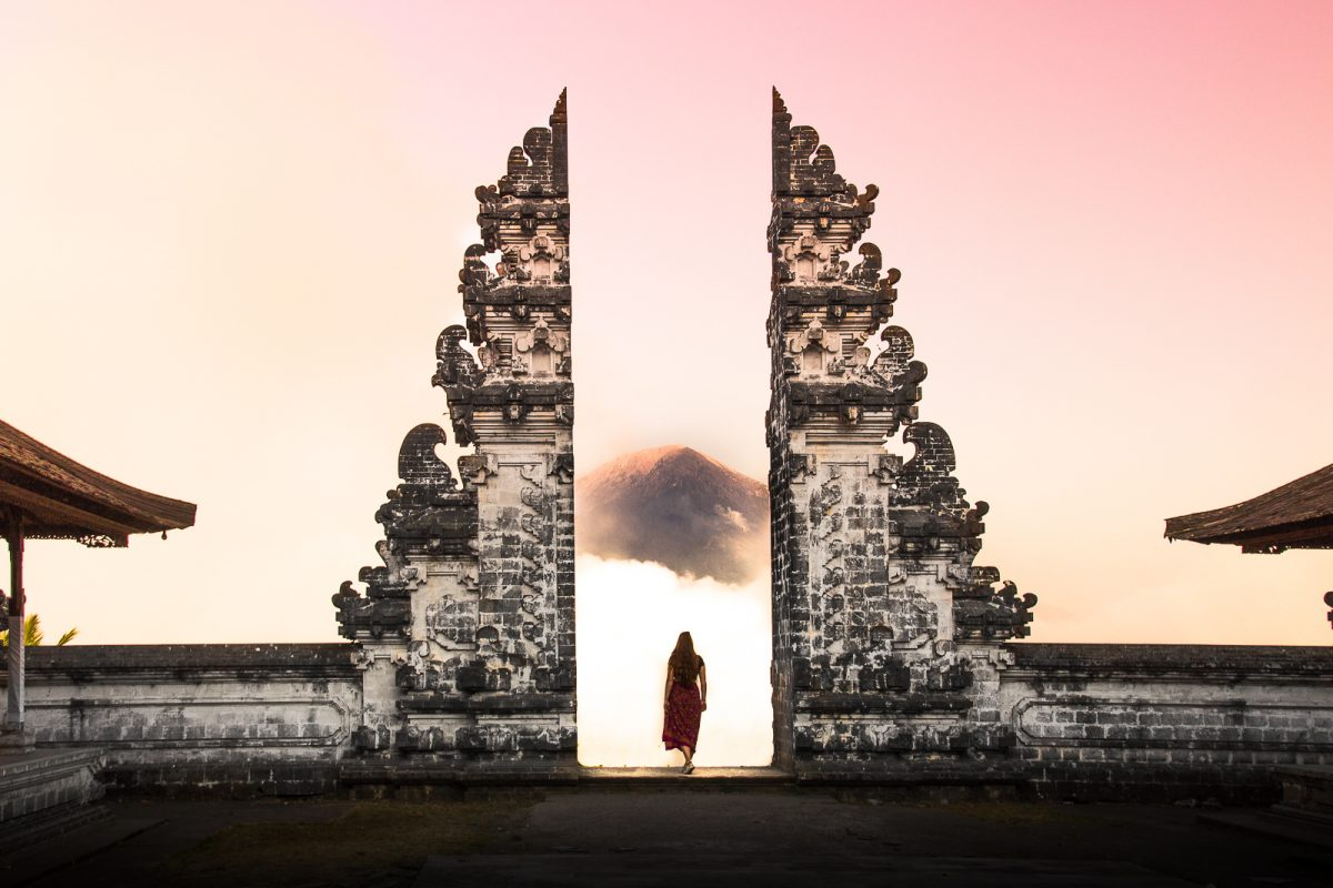 the heaven's gates at Pura Lempuyang Temple in East Bali