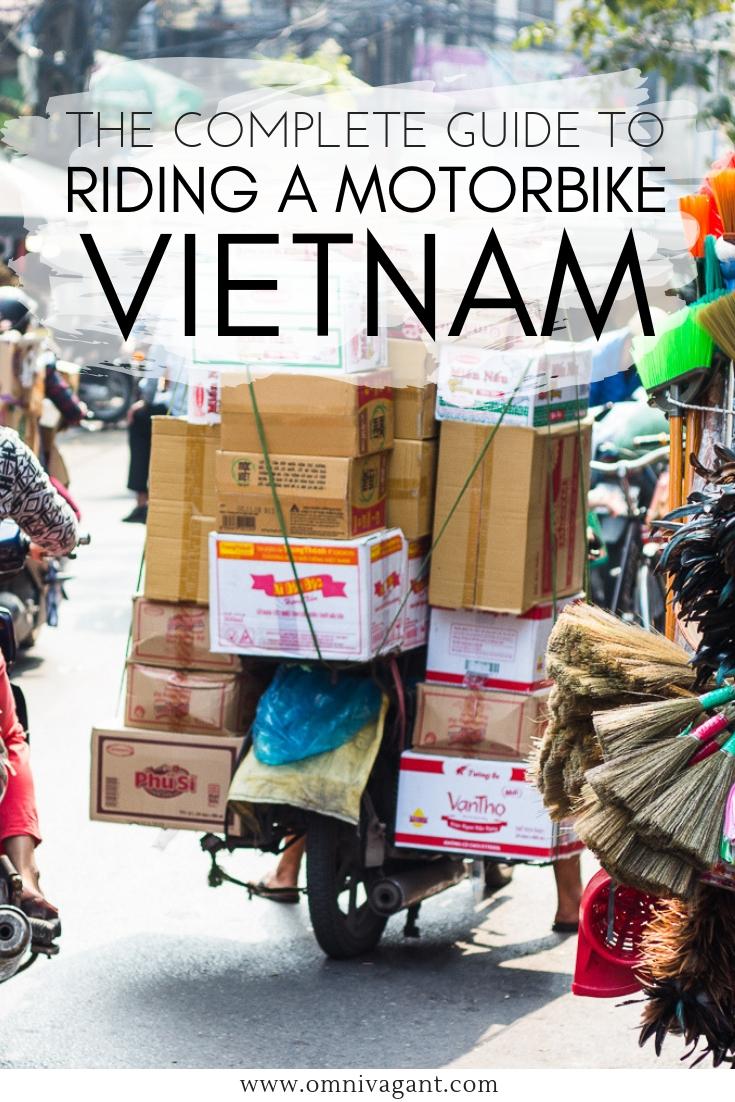Riding a motorbike in Vietnam #Vietnam