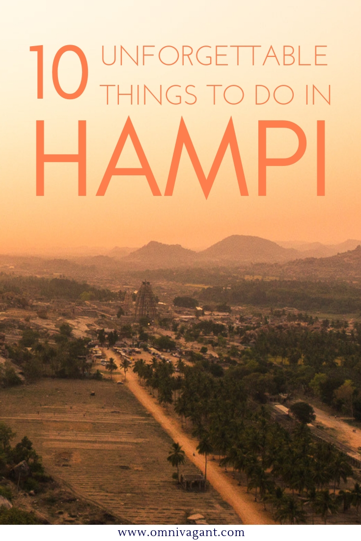 10 Unforgettable things to do in Hampi, India #India #Hampi