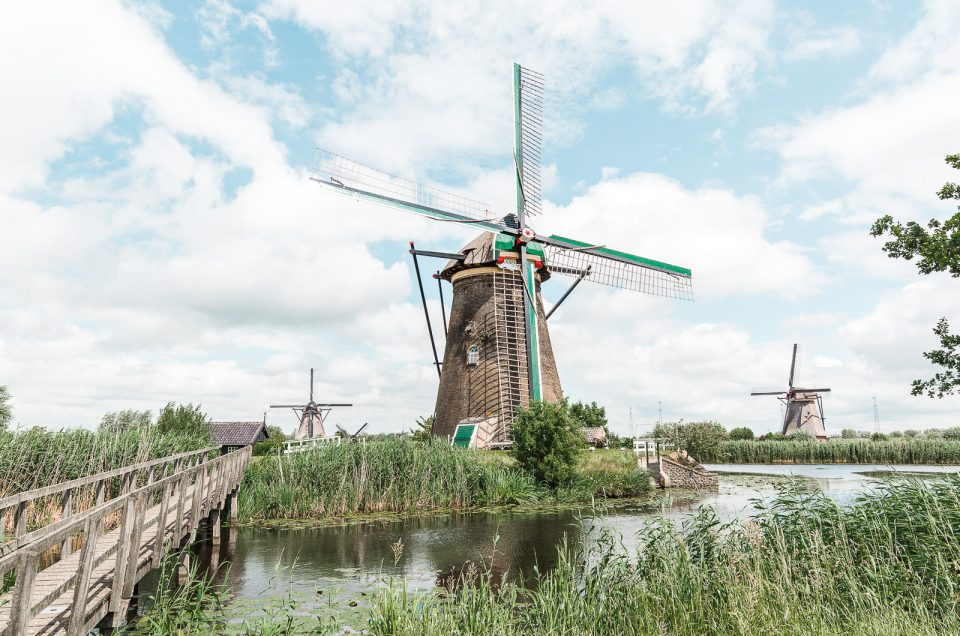 The beautiful windmills at Kinderdijk