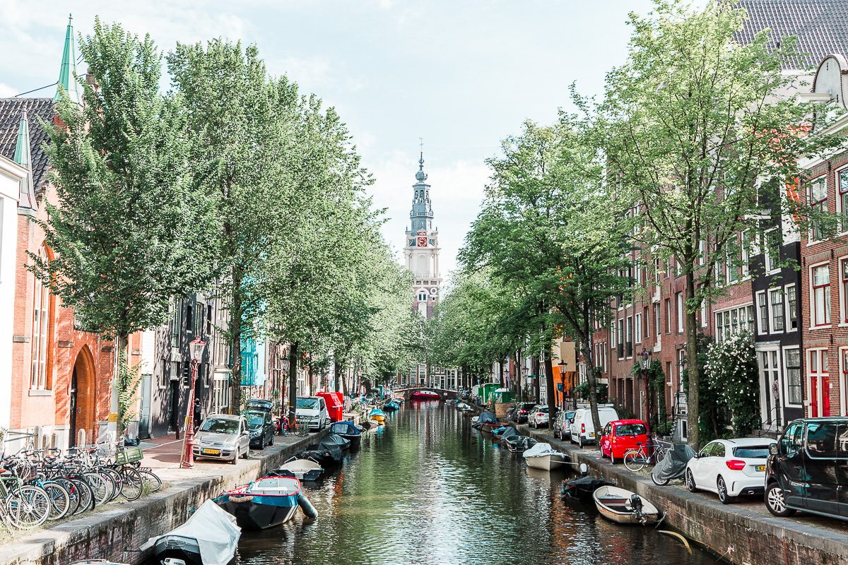 View over the canals of Amsterdam