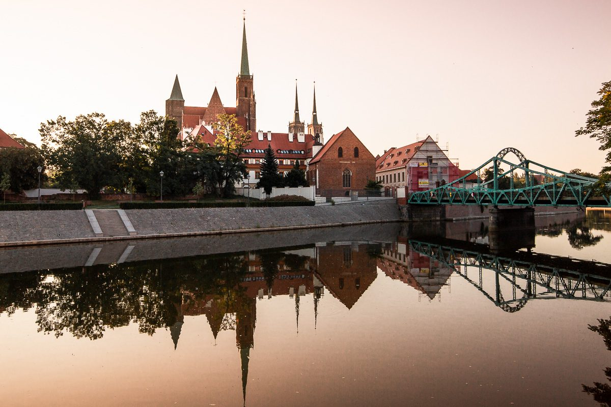Sunrise over Ostrow Tumski in Wroclaw