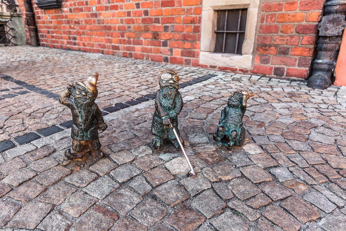 Gnomes at Wroclaw's Market Square