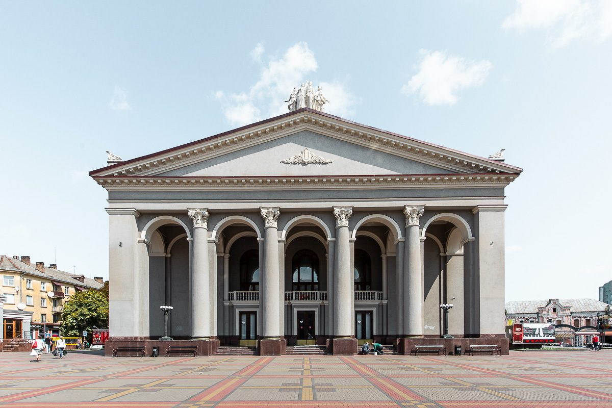 Teatralna square in Rivne