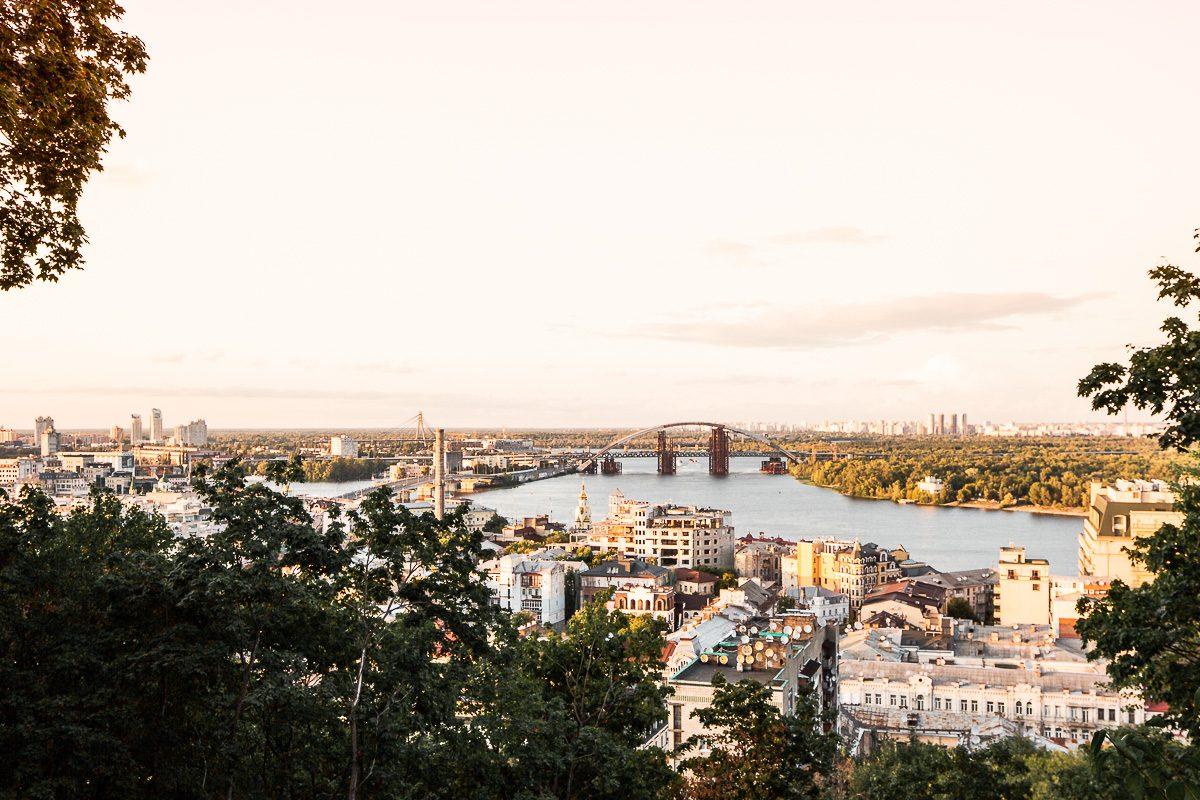 View over Ukraine