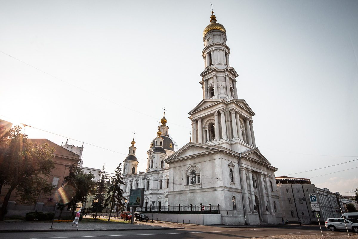The Dormition Cathedral in Kharkiv