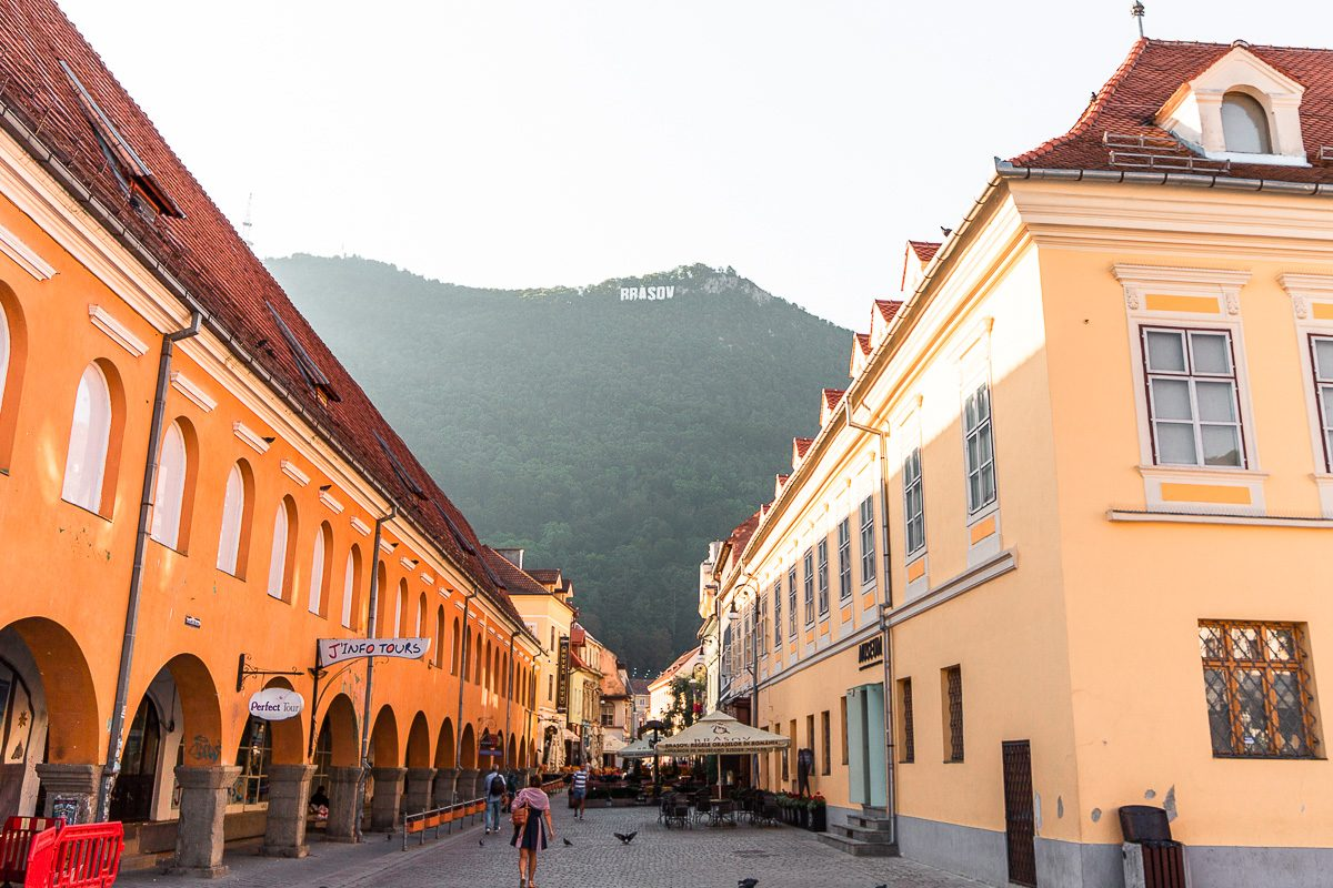 the colourful streets of brasov