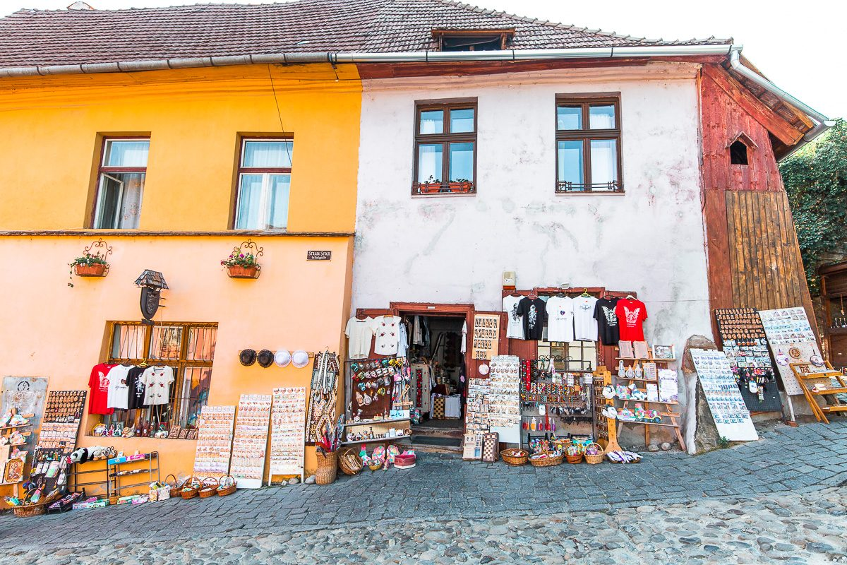 Souvenir shops in Sighisoara