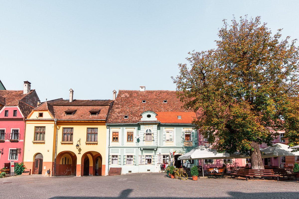 The Citadel Square in Sighisoara