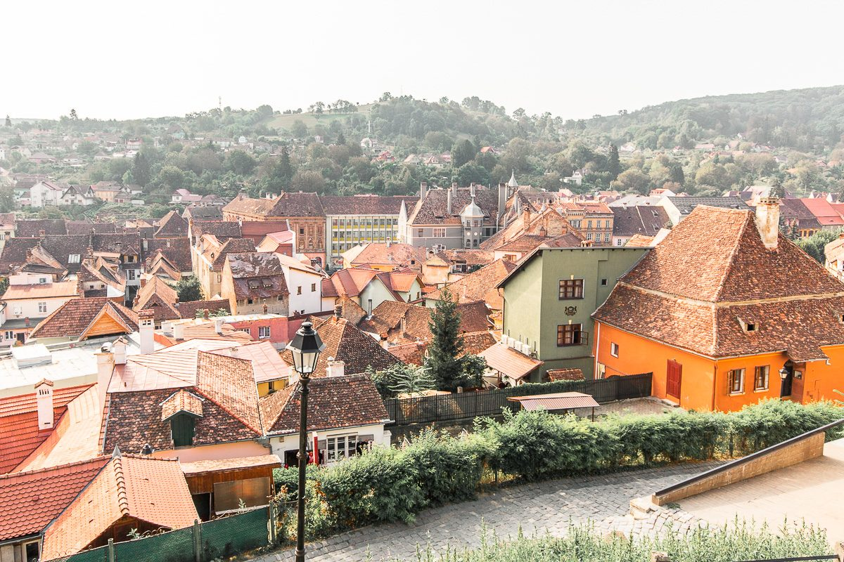 View of the lower town in Sighisoara