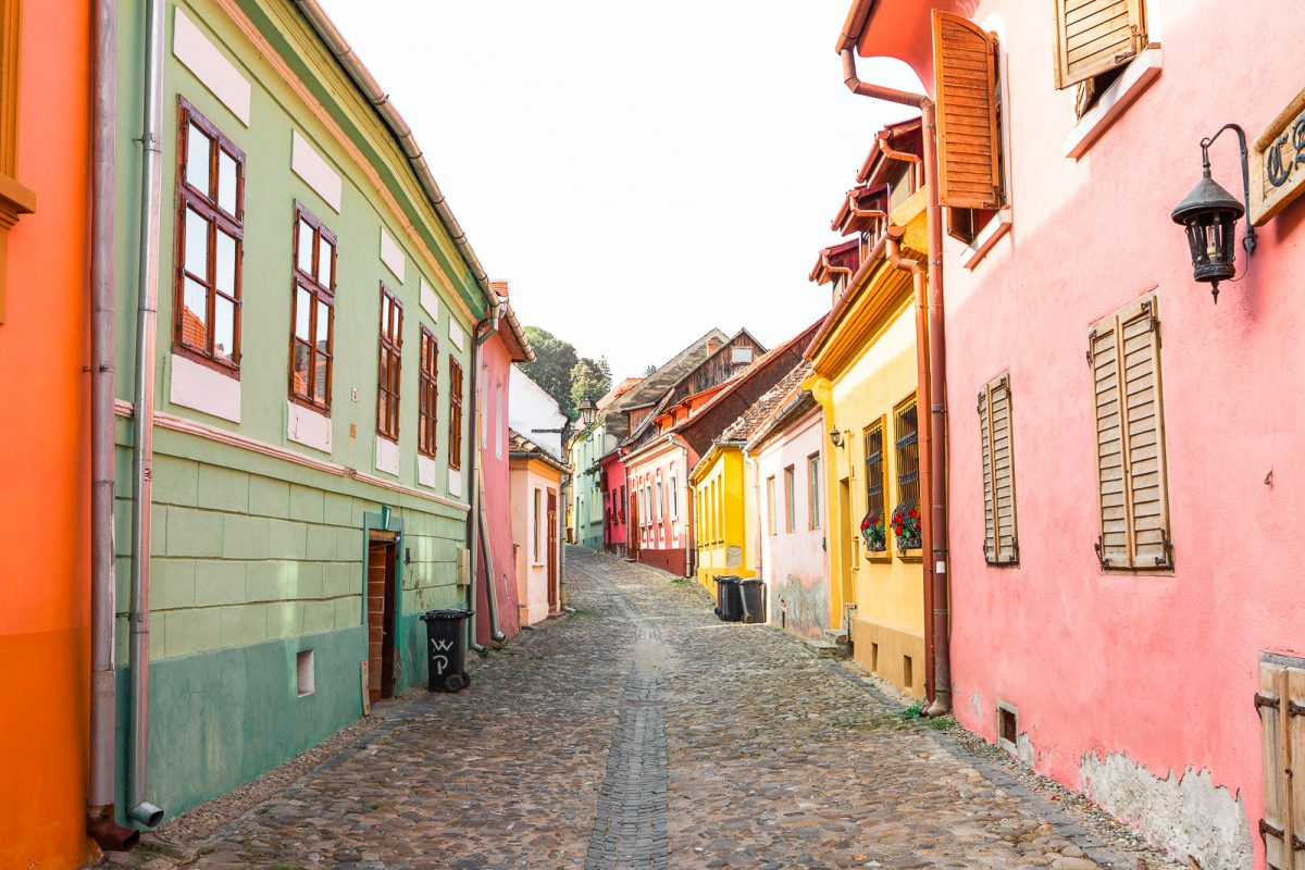 Sighisoara's Citadel: The Colourful Streets