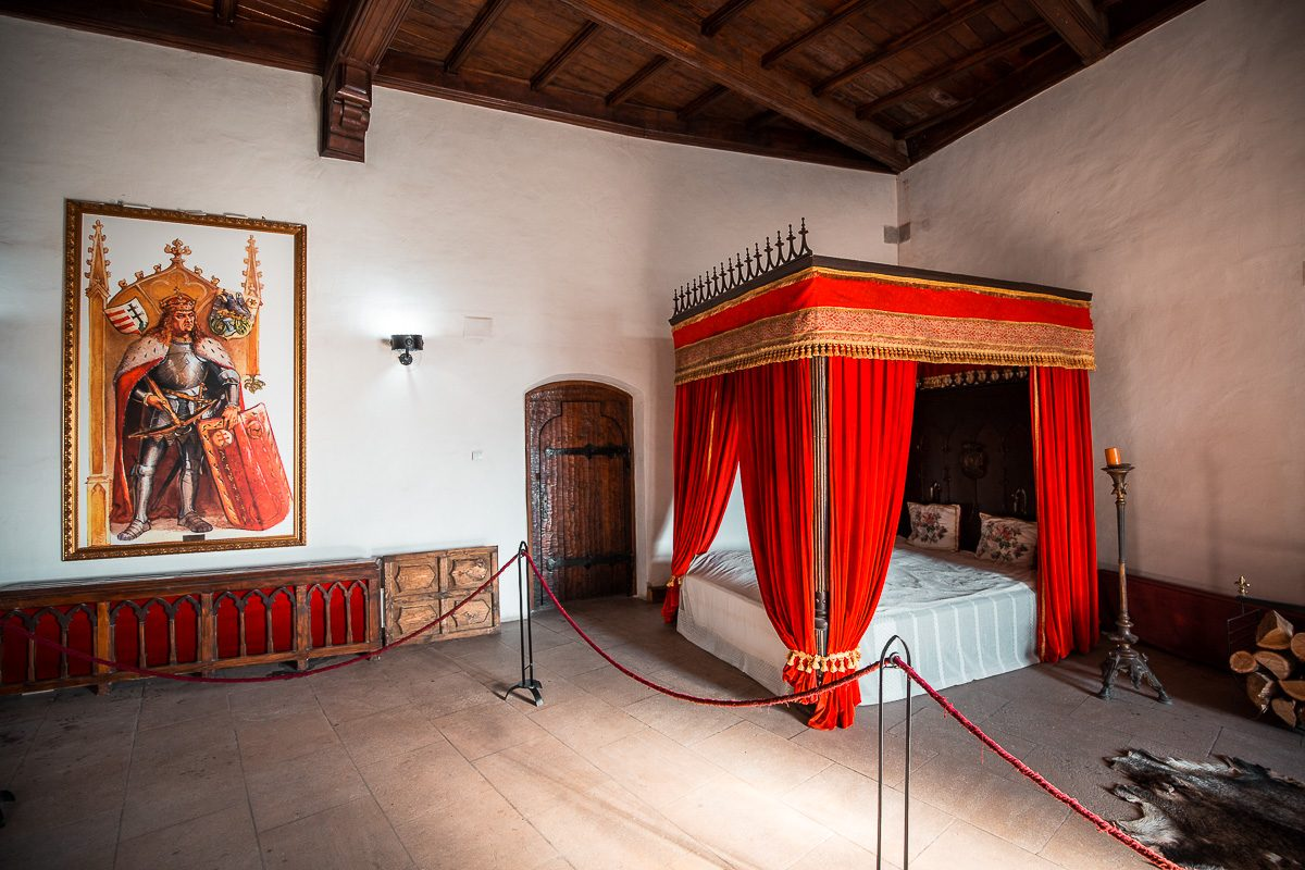 A room in Corvin Castle in Hunedoara, Romania