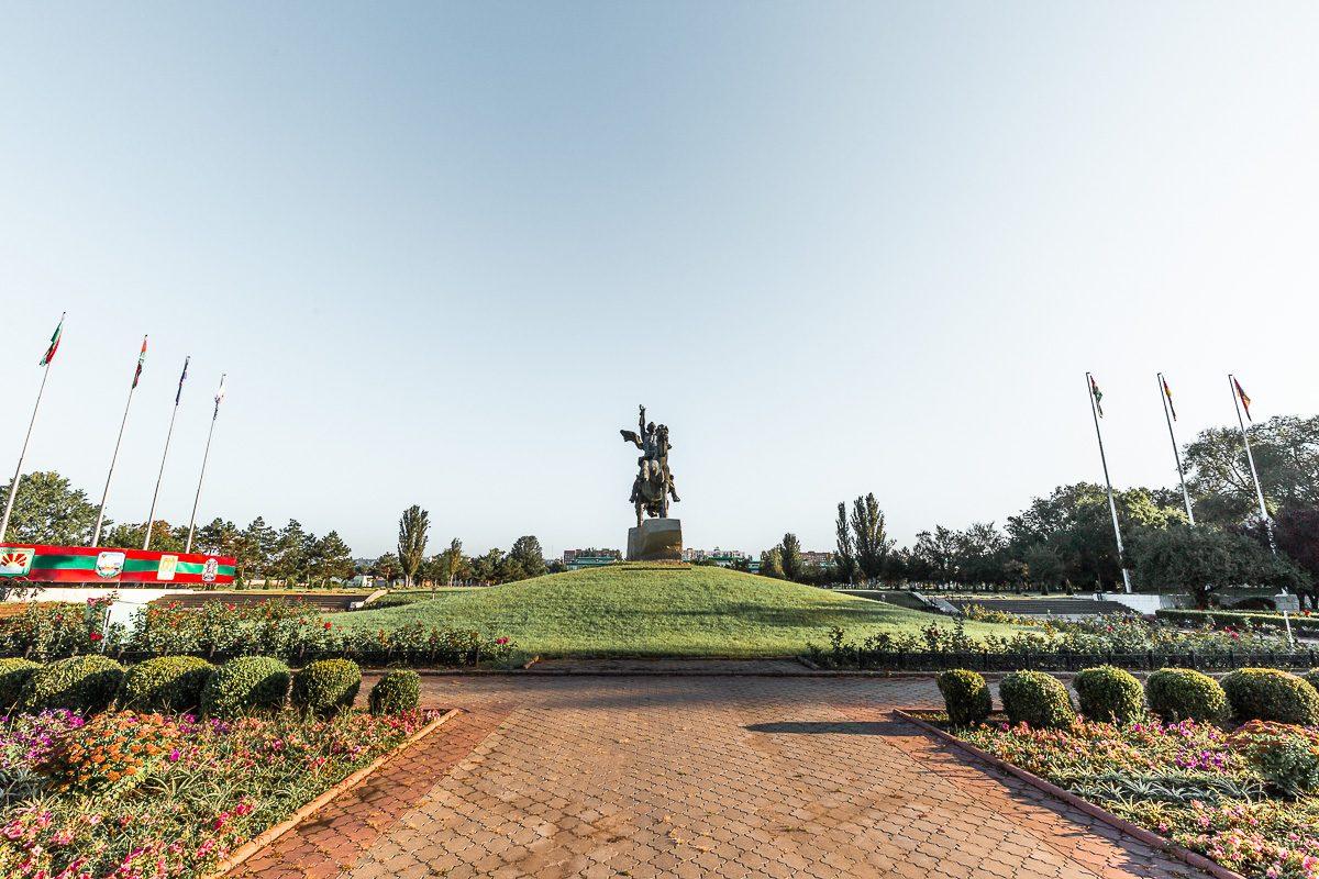 Monument to Suvorov Tiraspol Transnistria
