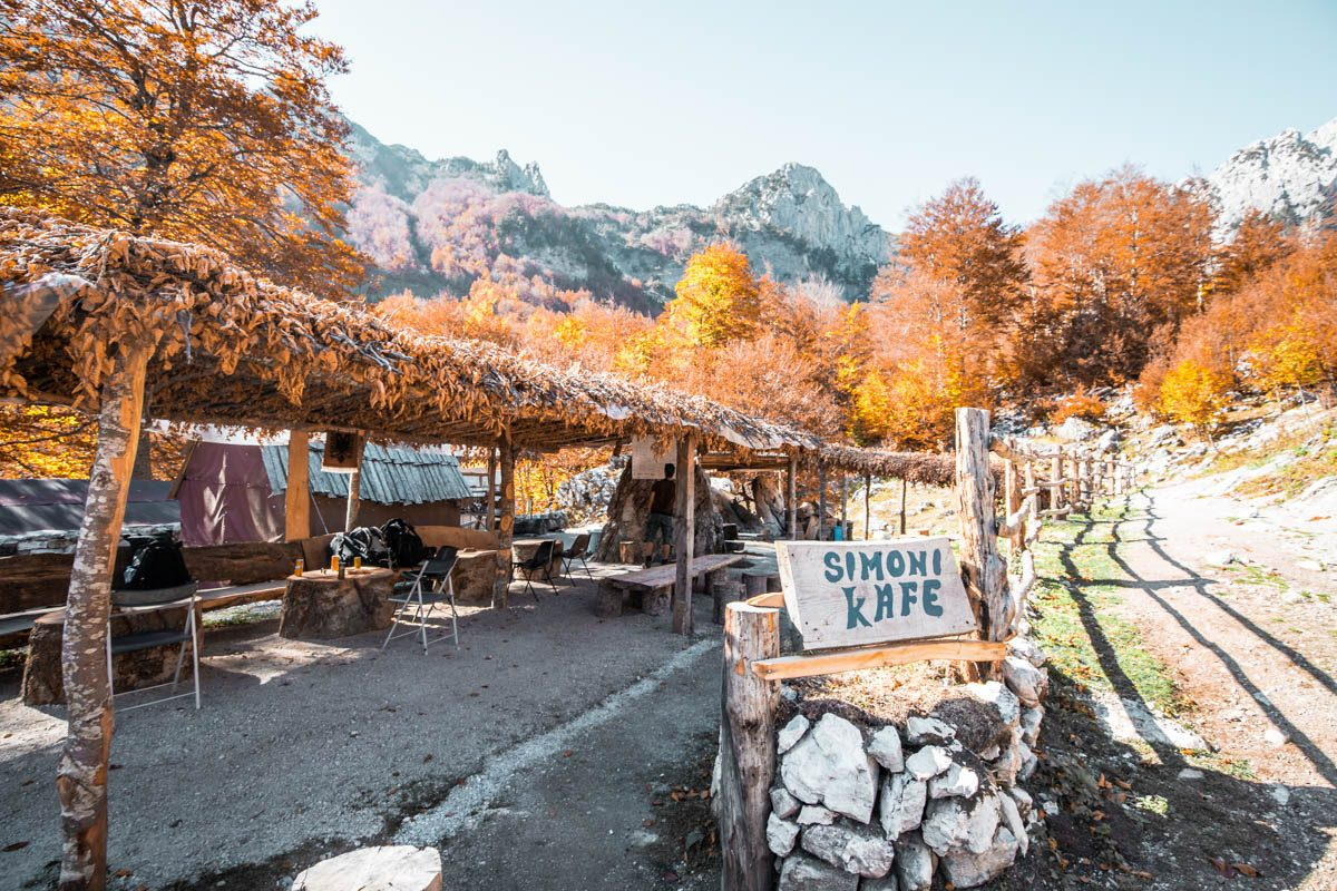 Simoni Cafe on the Valbona to Theth Hike
