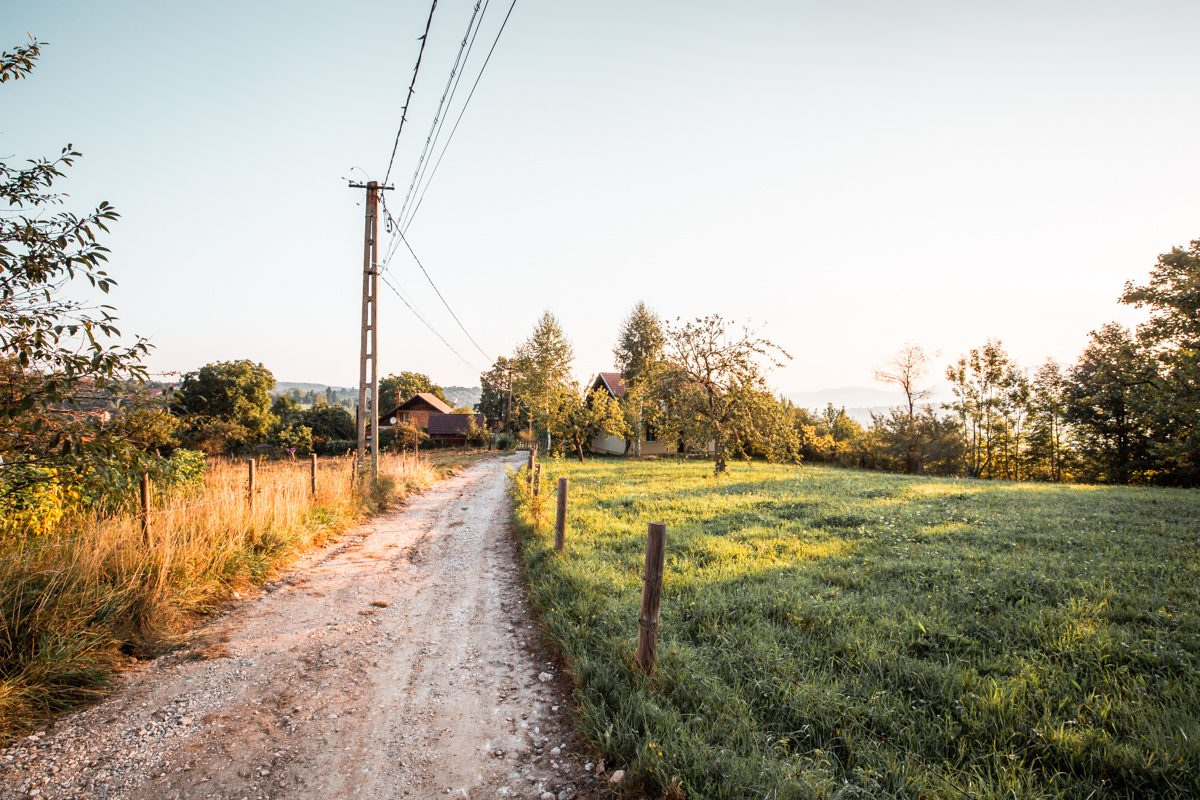 Mountain roads in Romania