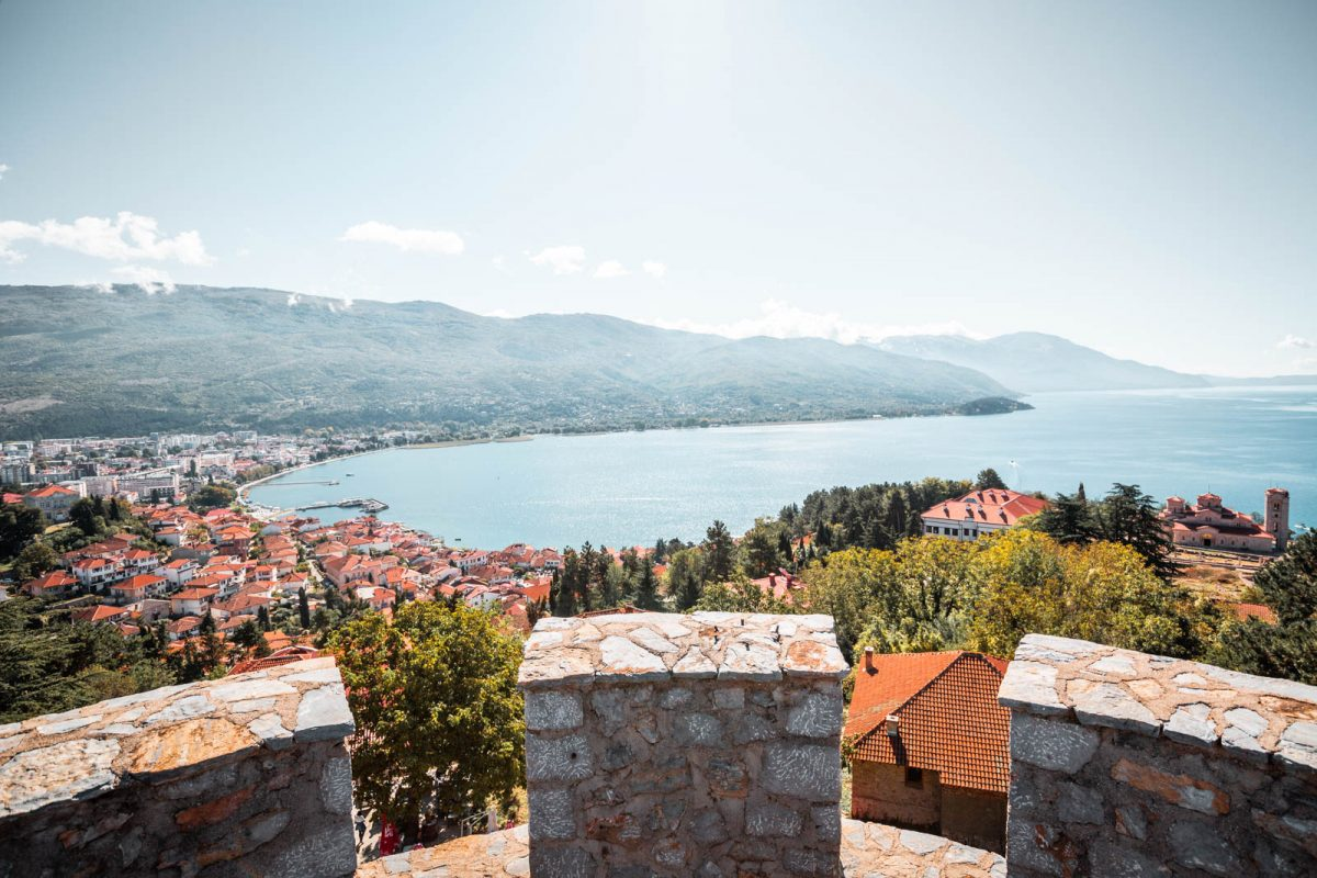View from Samuel's Fortress over Lake Ohrid