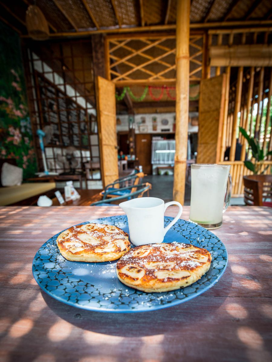 banana pancakes and lime juice from warung ambara